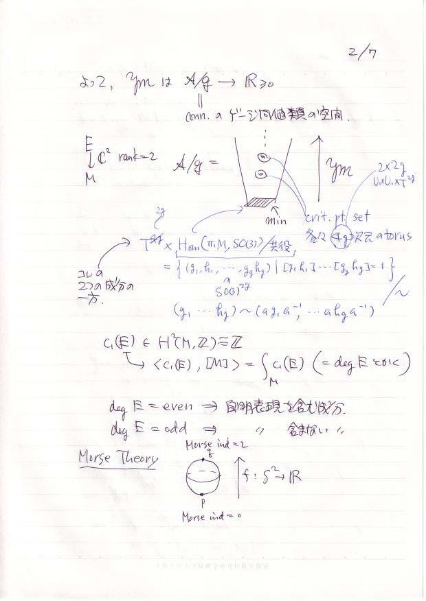 古田幹雄[2次元のゲージ理論 I...
